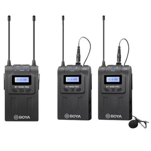 Boya UHF Dual Lavalier Microphone Wireless BY-WM8 Pro-K2