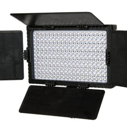 Falcon Eyes Bi-Color LED Lamp Set Dimmable DV-216VC-K2 incl. Battery