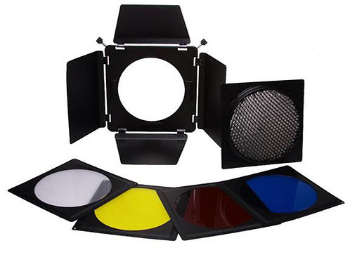 Falcon Eyes Barndoor Set, Honeycomb Grid and Filters SFA-BHC