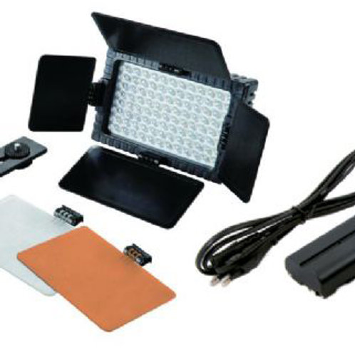 Falcon Eyes LED Lamp Set Dimmable DV-96V-K2 incl. Battery