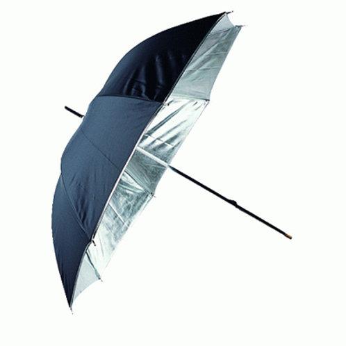Linkstar Umbrella PUR-102SB Silver/Black Cover 120 cm