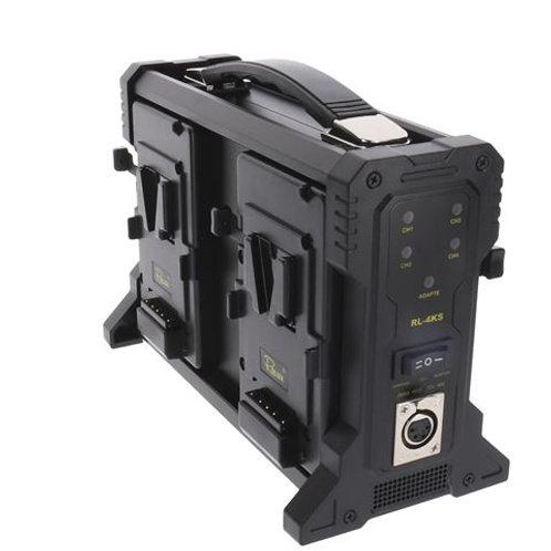 Rolux Battery Charger RL-4KS for 4 x V-Mount Battery