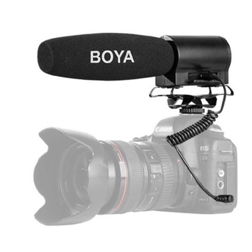 Boya Mini Condenser Microphone BY-DMR7 with Recorder