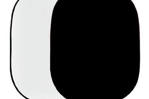 Falcon Eyes Background Board R-1482WB White/Black 148x200 cm