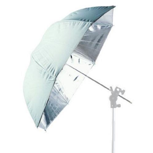 Falcon Eyes Jumbo Umbrella UR-T86S Silver/White 216 cm