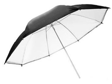 Falcon Jumbo Umbrella URN-T86TSB1 Transparent White + Silver/Black Cover 216 cm