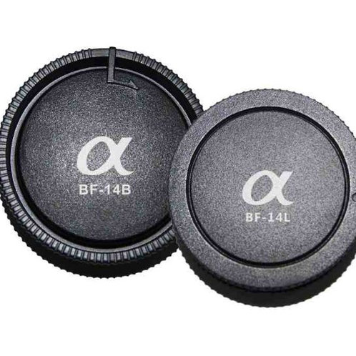 Pixel Lens Rear Cap BF-14L + Body Cap BF-14B for Sony