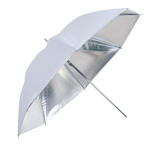 Falcon Eyes Umbrella UR-48S Silver/White 122 cm
