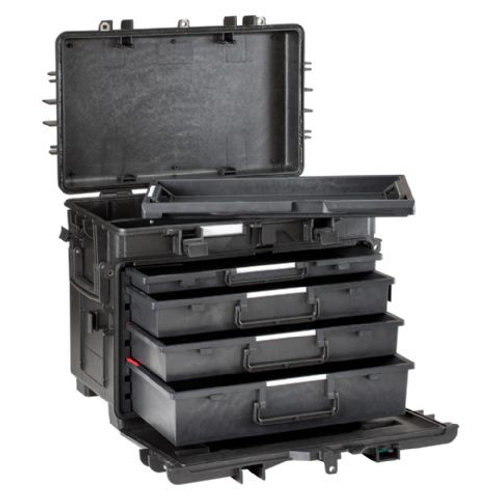 Explorer Cases 5140 Trolley Black with Empty Drawers