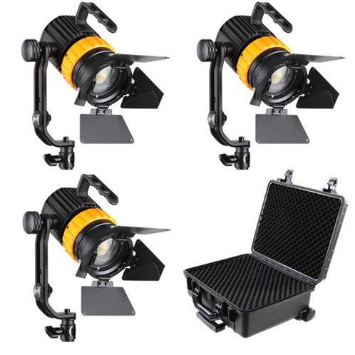 Falcon Eyes Bi-Color Mini LED Fresnel Kit P-5AD-K3