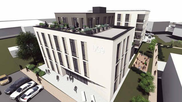 DG9 - Verslo ir apartamentų pastatas Alytaus centre