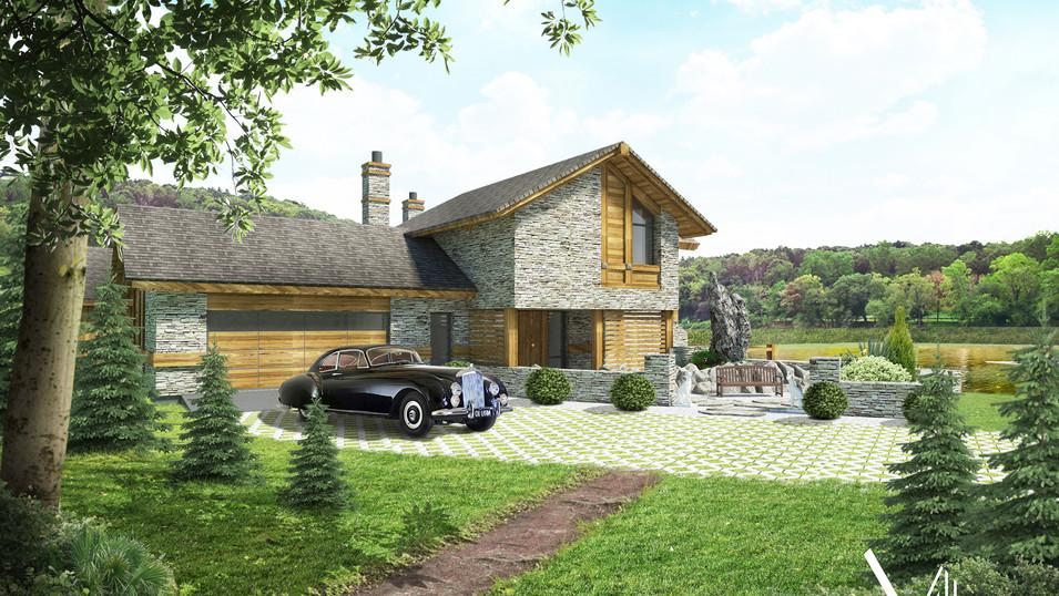Tauras - uniklaus gyvenamojo namo projektas - Villaxy