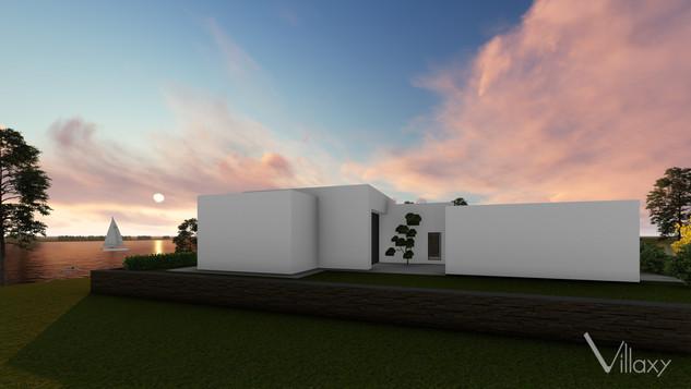 Vakaro Vila - unikalus namo projektas šalia Mituvos užtvankos - Villaxy dizainas