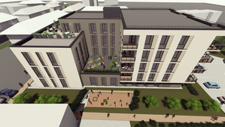 DG9 - paslaugų ir apartamentų pastatas Alytaus miesto centre