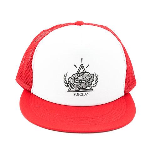 Red Trucker Snap Back Cap