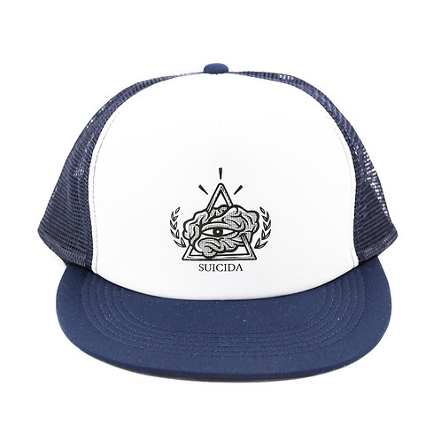 Blue Trucker Snap Back Cap