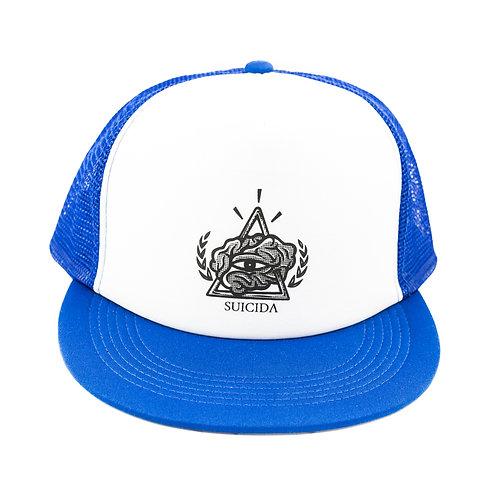 Light Blue Trucker Snap Back Cap