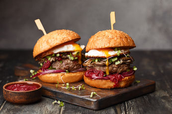 Burgers With Micro Greens