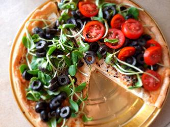 Microgreens Pizza
