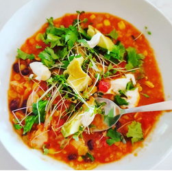 Lentil Soup With Microgreens.