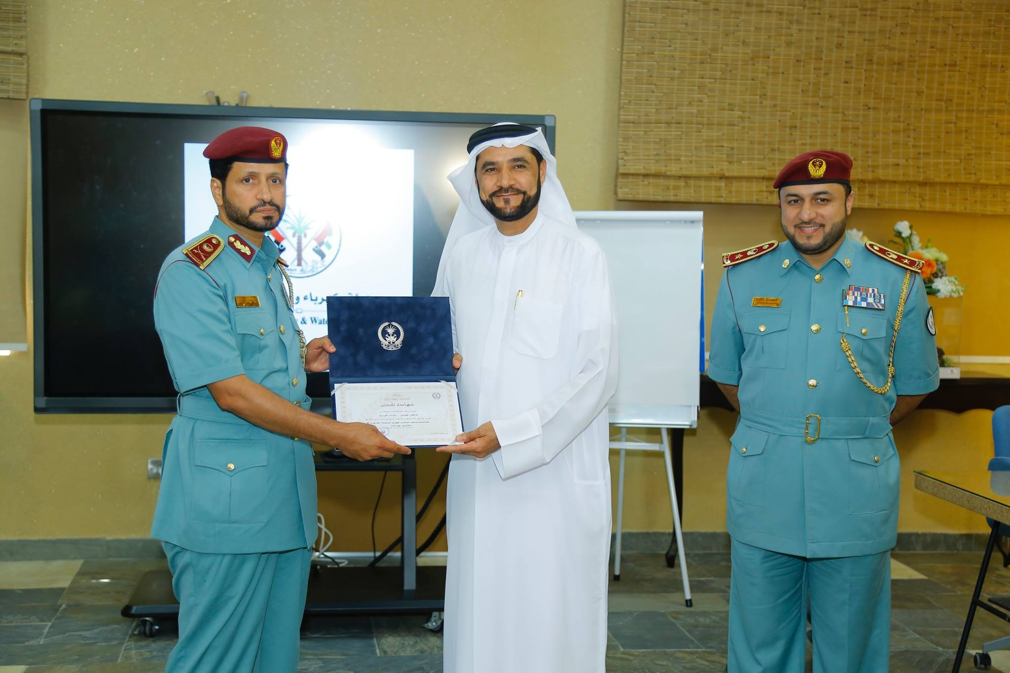 With General Saif Al Zari Al Shamsi