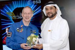 Dr. Alleem with Astronaut Frank De Winne