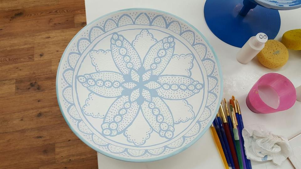 painted pasta bowl