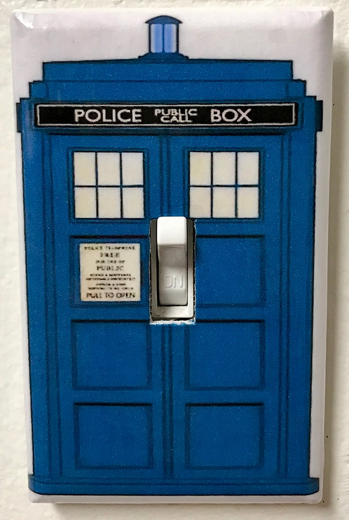 Doctor Who Tardis 2 Light Switch Cover