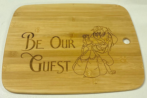 """Be Our Guest"" Cutting Board"