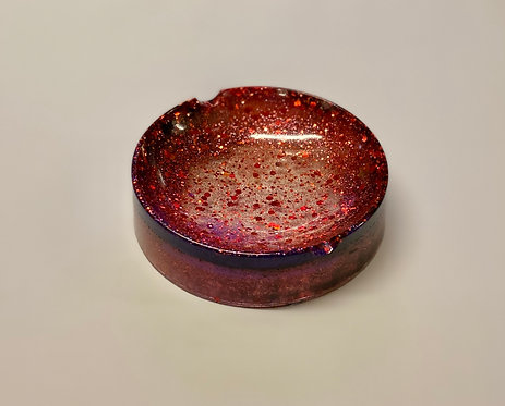 Red & Purple Party Glitter Trinket Dish or Ashtray