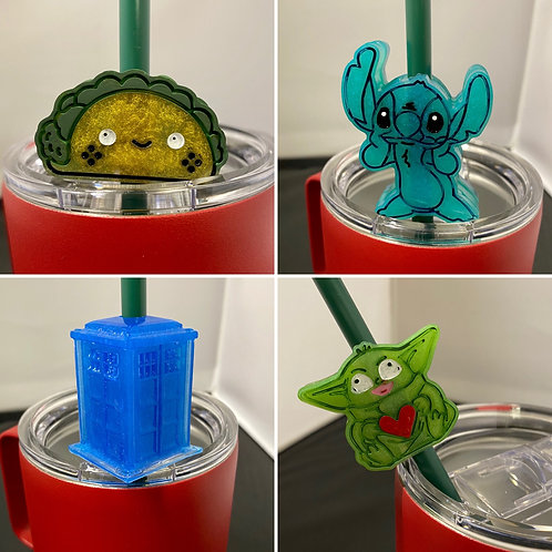 Tumbler Straw Toppers
