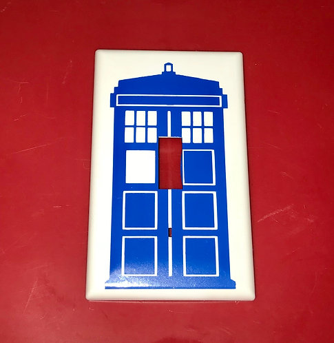 Doctor Who Tardis Light Switch Cover