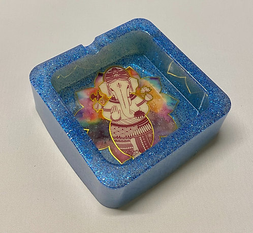 Ganesha Hindu God Trinket Dish or Ashtray