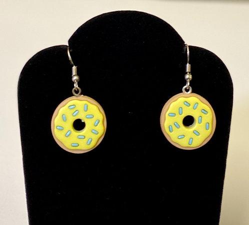 Lemon Frosted Donut Earrings