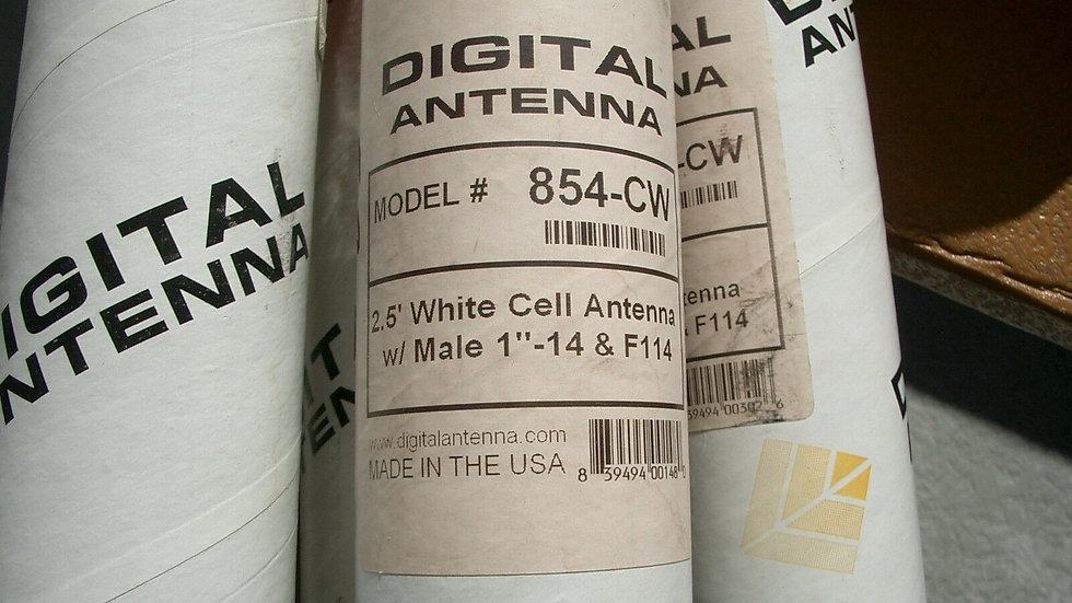 "Digital Antenna 854-CW 30"" Dual Band Cell Antenna White"