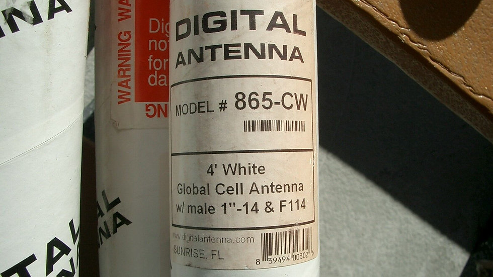 Digital Antenna 865-CW 4' Global Cell Antenna White