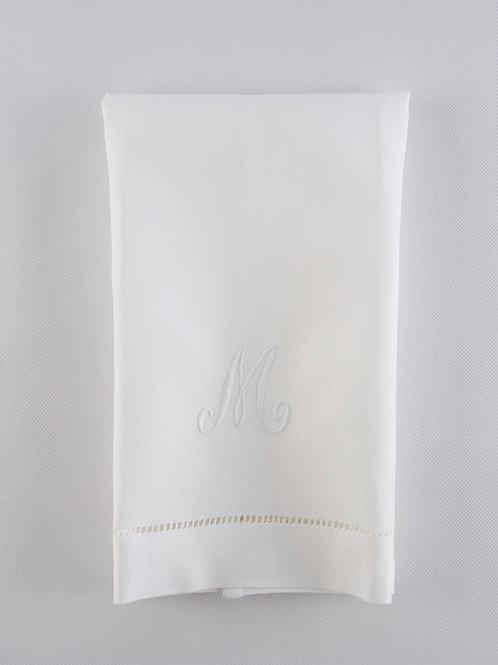 Toalla lino blanca vainica