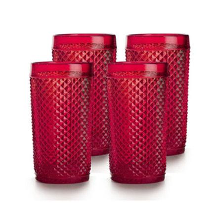 Picos 4 Vasos Altos Rojos