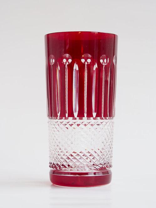 COLORES 6 Vasos Altos rojo 300ml