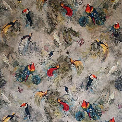 Tela Acuarela Pájaros