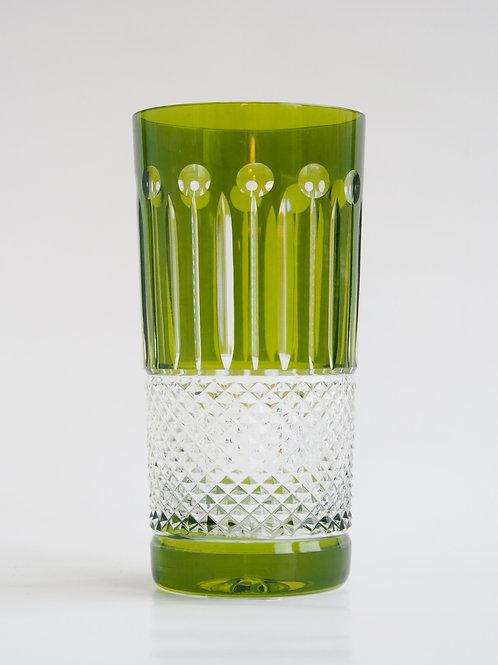 COLORES 6 Vasos Altos verde 300ml