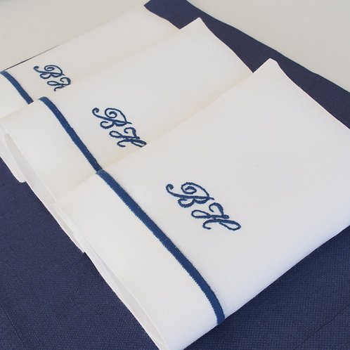 Set 6 individuales y servilletas con dos iniciales