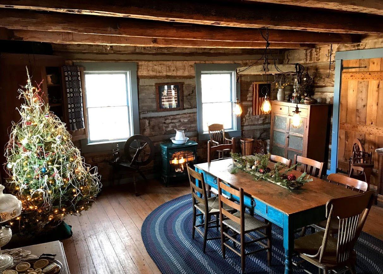 Log Cabin Christmas.Log Cabin Christmas