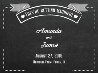 Congratulations James & Amanda!