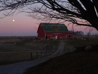 Moon Over Heritage Farm