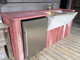 Cabin Sink and Beverage Center
