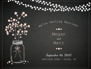 Congratulations Megan & Matt!