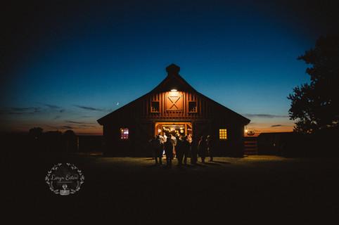 Gathering Barn at Night