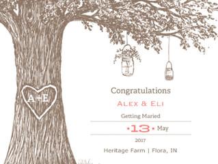 Congratulations Alex & Eli