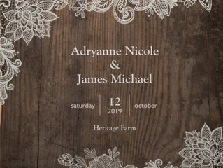 Congratulations Adryanne & James